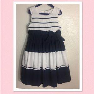 Carter's Formal Dress, Girls Size 6....Navy&White
